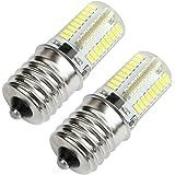 Kakanuo E17 LED Bulb Microwave Oven Light Dimmable 4 Watt Daylight White 6000K 72X3014SMD AC110-130V (Pack of 2)