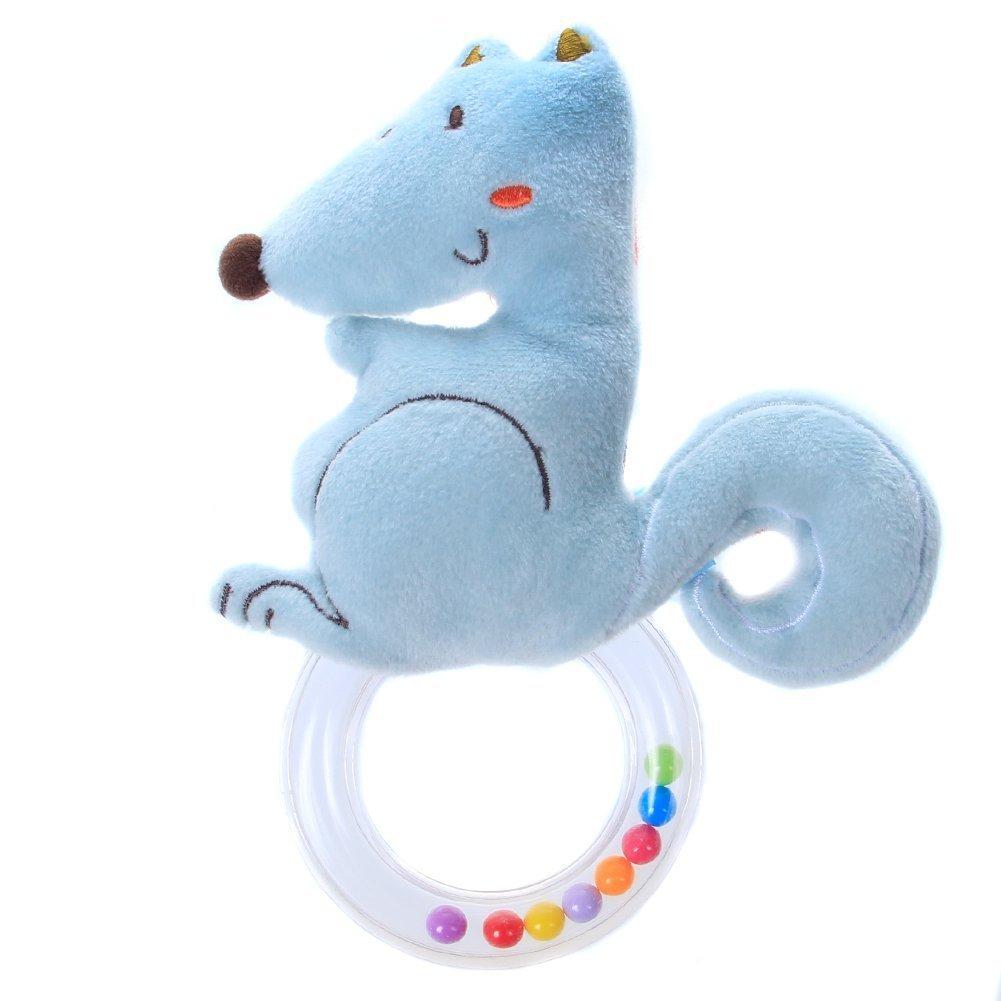 Labebe 【 Omaggio! - Paghi 1 prendi 1 gratis 】 Giocattolo a forma di spirale appeso specchio per culla e passeggino - Scoiattolo blu