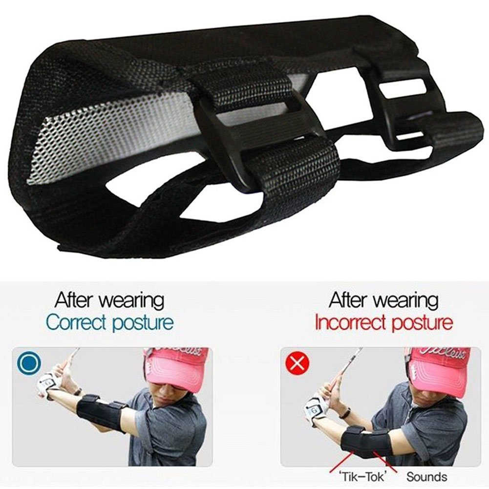 Golf Swing Training Aids Golf Swing Aid Trainer Straight Practice Elbow Brace Corrector Support Golf Accessories 2pcs by Vbestlife