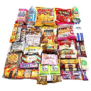 Ultimate Japanese and Korean Snack Box ( 33count) - Variety Assortment of Japanese Snacks and Korean Snacks chips cookie asian snacks