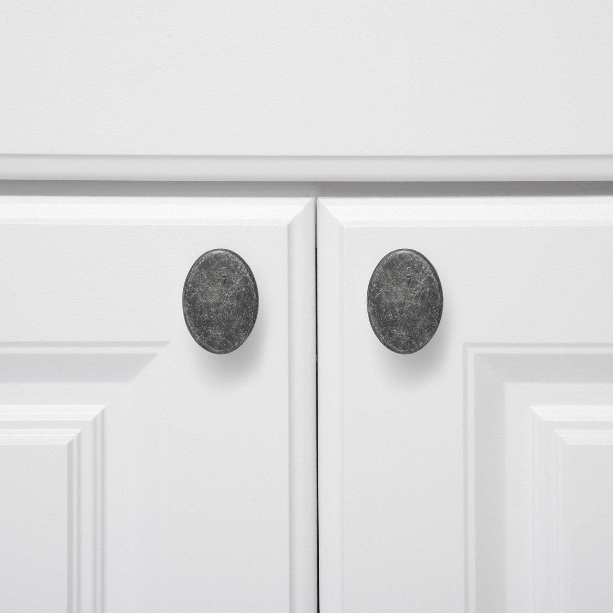 Basics Pomo de armario redondo y plano cromo pulido paquete de 25 3,66 cm de di/ámetro