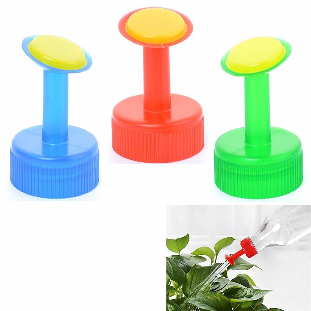 6 Pack Mini Hand Portable Watering Sprinkler, Waterers Bottle Spout Nozzle Cap Converter for Plant Flower Gardening, Works with 0.5, 1, 1.5, 2 Liter Soda Bottle (Green) ORYOUGO