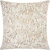 Nourison Mina Victory DR003 Beaded Animal Print Decorative Pillow, 20'' x 20'', Copper