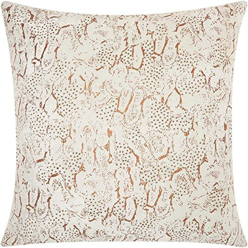 Beaded Decorative Pillow - Mina Victory by Nourison DR003 Beaded Animal Print Decorative Pillow, 20