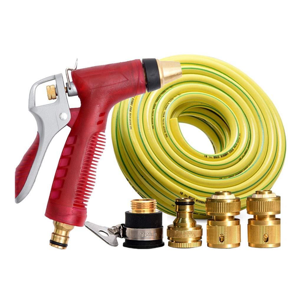 LYP-Water gun nozzle Tubo Flessibile per Acqua Tubo Estensibile per Giardino Tubo antigelo Tondo con più ugelli per Lavaggio Auto irrigazione Fiori Verdura   Pavimento (Rosso) (Dimensioni   25m)