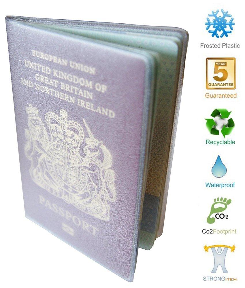 Pasaporte Cubrir billetera Transparente Claro Pl/ástico 5 a/ños de garant/ía
