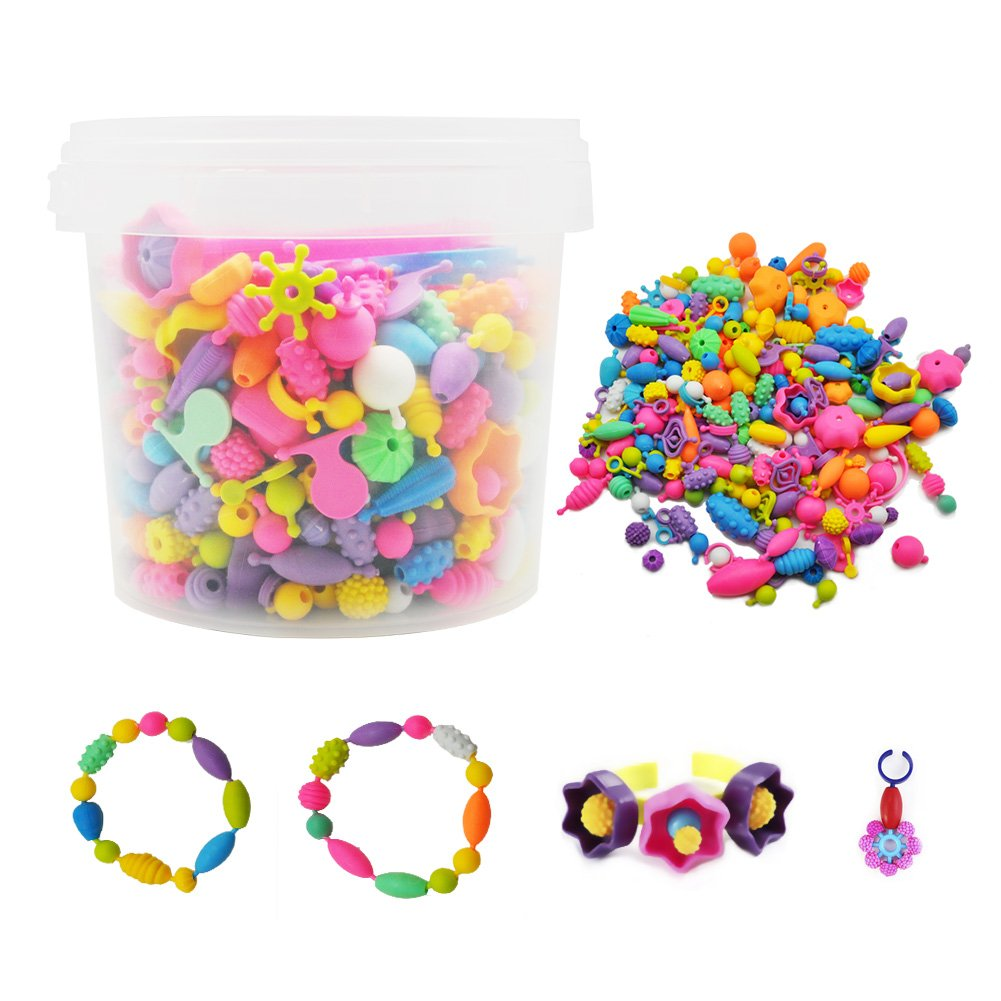 Gorse Pop Beads Set 530 PCS for Kids Toddlers Head wear Necklace Earrings Bracelets and Anklets Ideal Gift Idea for Christmas & Birthday by Gorse (Image #2)