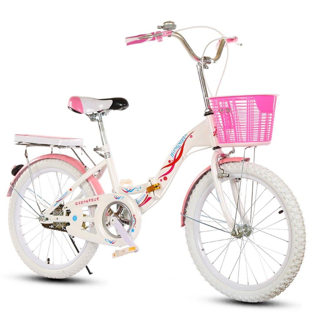 美しい 家子供用自転車、6-8-10-14歳の乳母車18インチ/20/22インチの女の子折り畳み小学校の女性用自転車 (色 : White tire, サイズ さいず : 18 inches) B07D1N8MKJ 18 inches|White tire White tire 18 inches