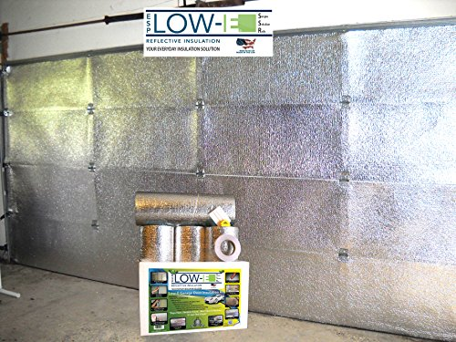 ESP Low-E® SSR One Car Garage Door(9'x7') Insulation Kit (Foil Interior Finish):Includes ESP Low-E® Reflective Foam Core Insulation (70 sq ft), Razor Knife, Squeegee, Double Adhesive Tape. 25 Years Products and Service From the Creators of Low-E (Garage Door 9ft X 7ft)
