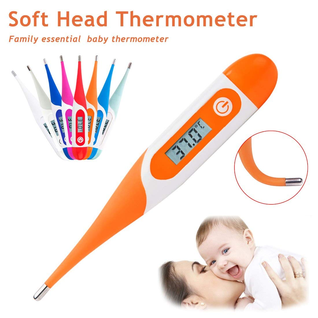 Temperature Instruments - 1pc Lcd Soft Head Electronic Thermometer Deep Waterproof Adult Kid Baby Mouth Underarm Body - Instruments Temperature Temperature Instruments Thermometer Room Thermo Se
