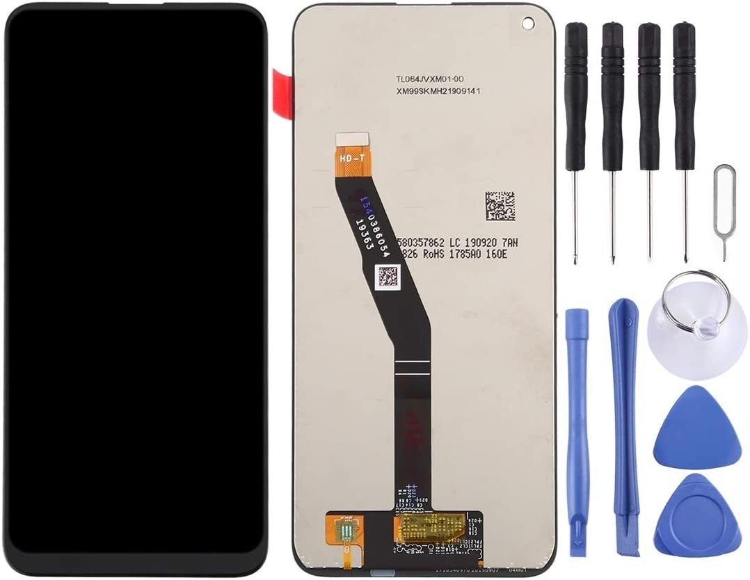 YANGJ LCD Screen and Digitizer Full Assembly for Huawei Honor Play 3 Color : Black Black