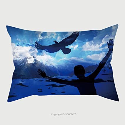 Custom Microfiber Pillowcase Protector Woman And Eagle Soar Like An Eagle Popular New Testament Passage 260505833