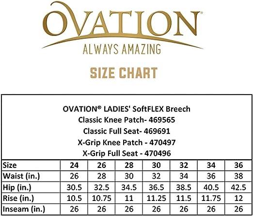 C-K26R 26 Regular Ovation Euro Melange Full Seat Breech Ladies Antimicrobial Bla
