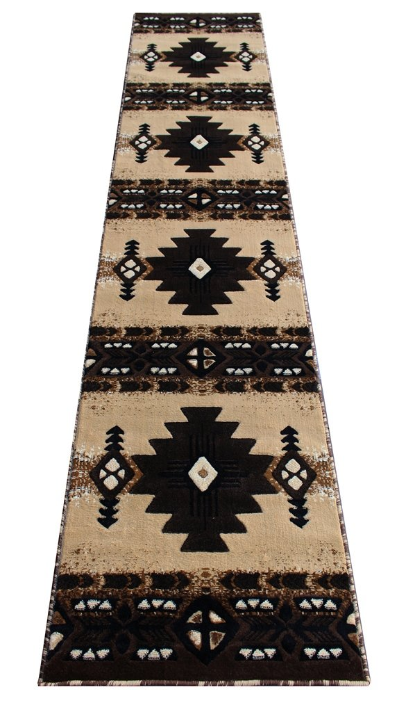 South West Runner Area Rug 2 Feet 4 Inch X 10 Feet 11 Inch Berber Design C318 - Southwest Native American theme. 2ft 4in x 10ft 11in long runner area rug. Woven in Indonesia from 100% olefin with jute backing. Designed to last for years. Durable, lays flat, easy to maintain and clean. Stain resistant, does not shed. - runner-rugs, entryway-furniture-decor, entryway-laundry-room - 61rvgOgxqQL -