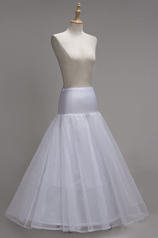 Babyonlinedress® Damen Tüll Petticoat A-Linie Unterrock Reifrock für  Abendkleid Brautkleid Hochzeitskleid Weiß