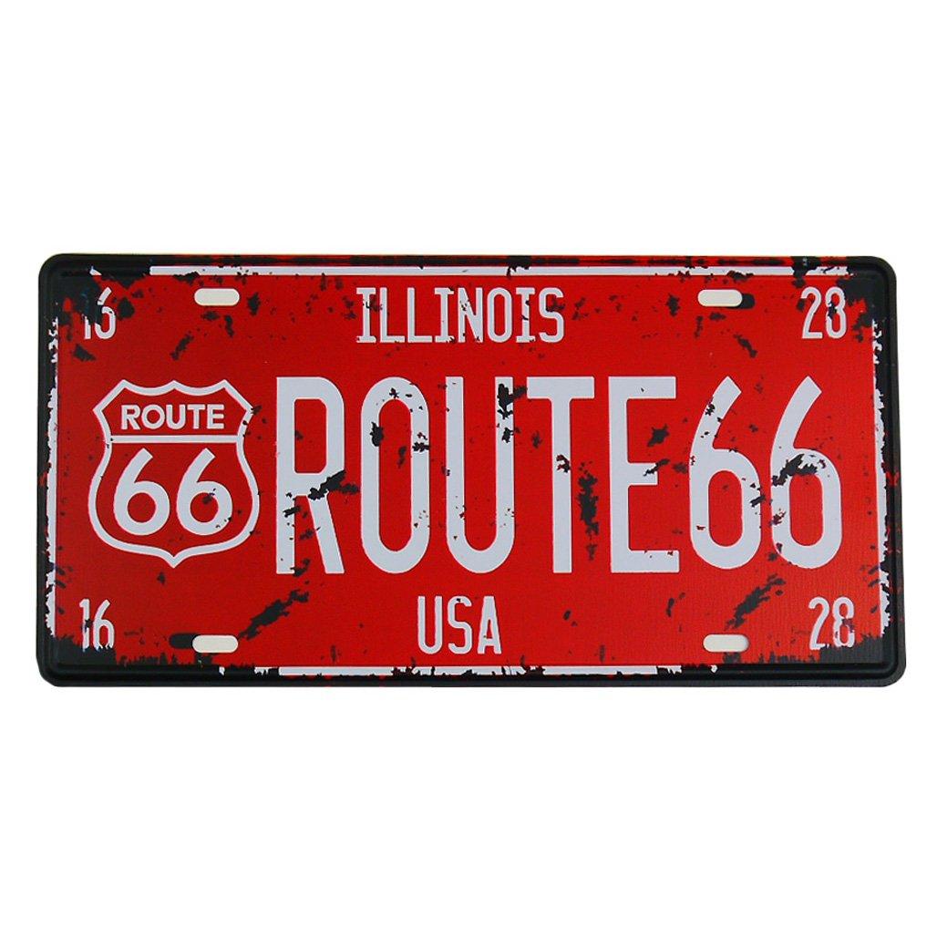 ms Route 66Tin poster metal targa Home bar Decor metal Red Sign cj574-c MAGIC SHOW