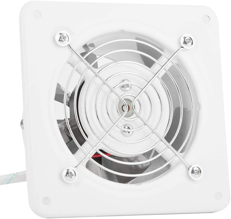 Delaman Bathroom Exhaust Fan, 25W 220V Wall Mounted Exhaust Fan Low Noise Home Bathroom Kitchen Garage Air Vent Ventilation