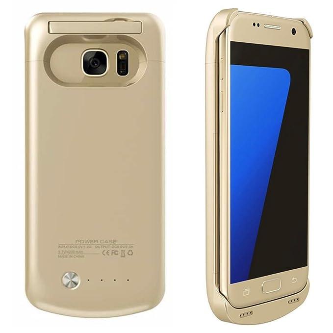 Mondpalast@ Oro Externos 4200mah batería Funda Cargador Para Samsung Galaxy S7 s7 S VII G930F G930