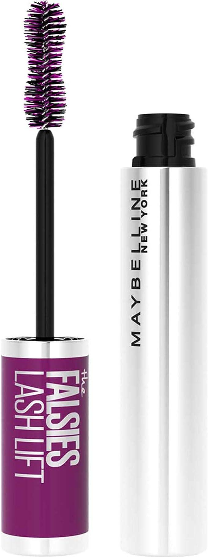 Maybelline New York, Máscara Efecto Pestañas Postizas, The Falsies Lash Lift, Color: Negro, 9.6 ml