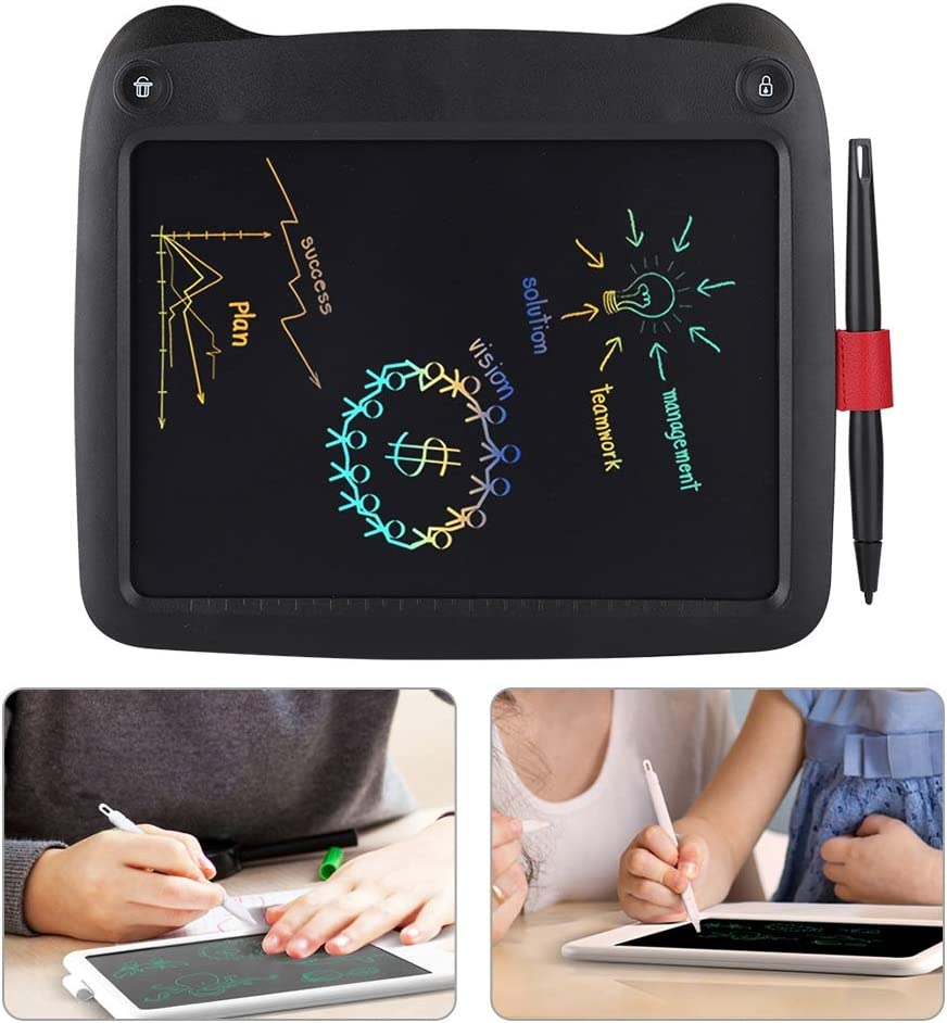9 Inches Colorful Magnetic Electronic Doodle Pads Drawing Board for Meetings Negotiations Outdoor Bewinner LCD Writing Tablet Erasable Reusable Writing Pad Gift for Kids and Adults White
