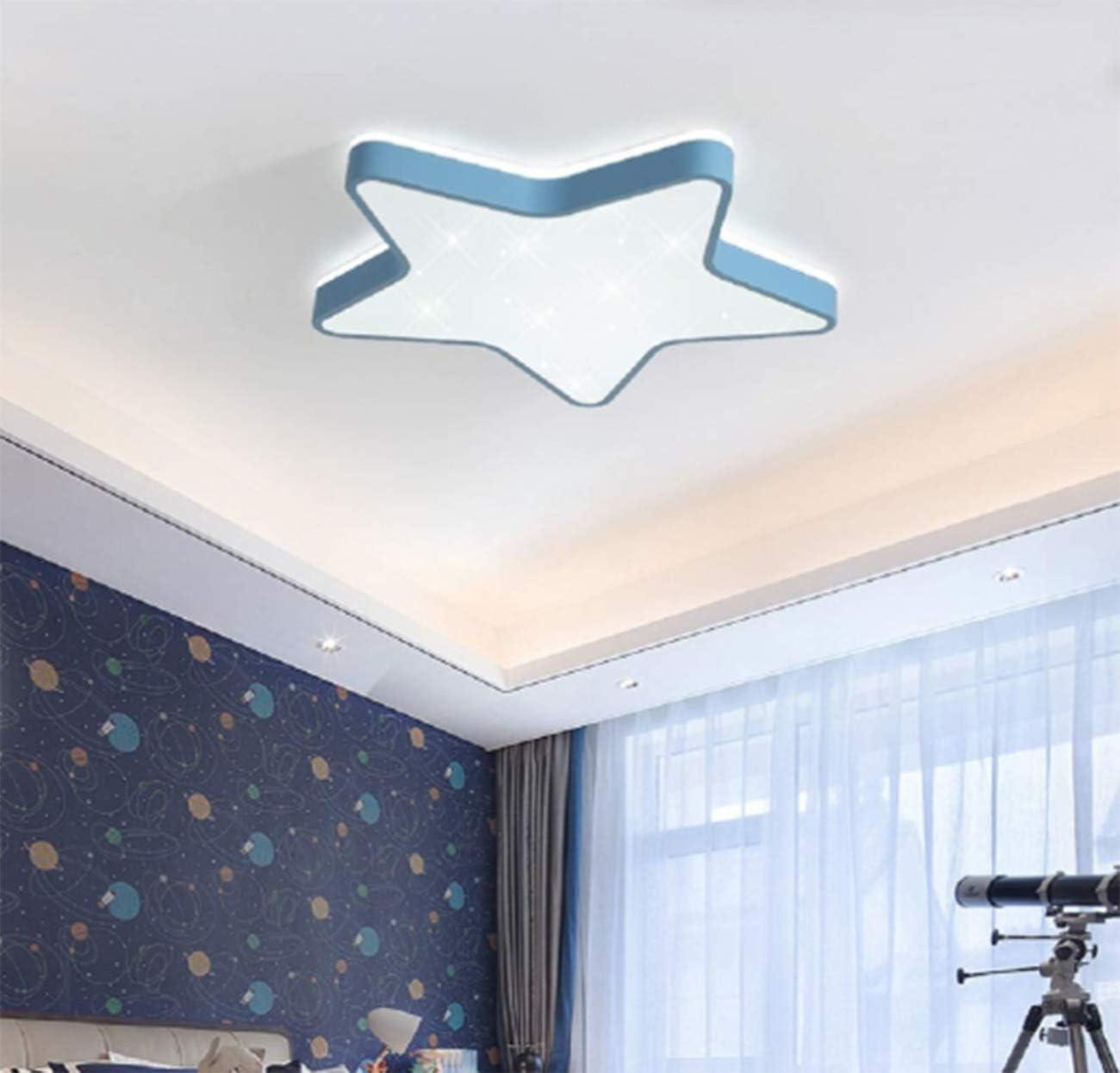 regalo ideale per bambini bianco, 36w luce bianca Plafoniera a forma di stella a LED Lampada a sospensione romantica per camera soggiorno