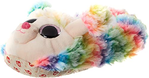 Ty - Pantuflas Medianas (Talla 33, diseño de Arco Iris, Multicolor: Amazon.es: Zapatos y complementos