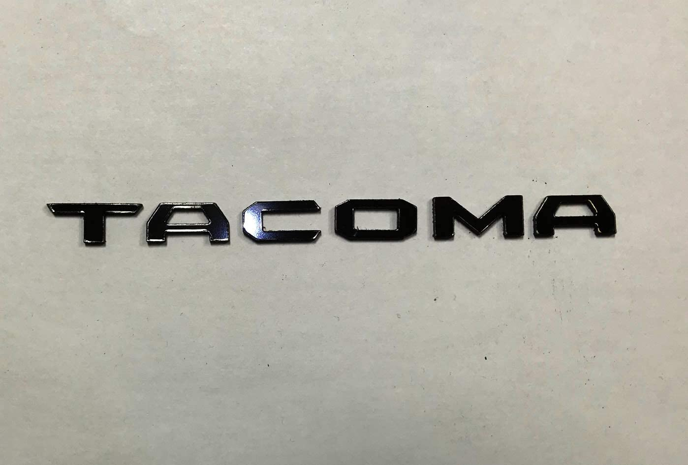 SF Sales USA - Gunmetal Chrome Dashboard Letters fit Tacoma 2016-2019 Plastic Inserts Not Decals