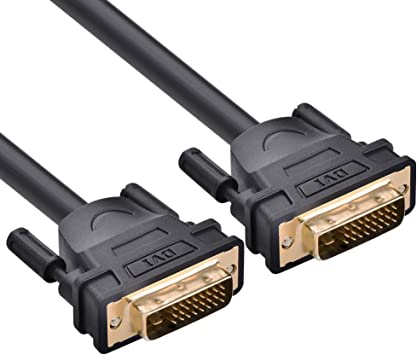 Short//Long GOLD DVI-D Male to Male 25pin 24+1 DVI Digital Video PC Monitor Cable