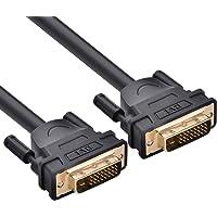 2M Cable DVI de Vídeo, Ugreen Cable DVI-D (24+1) Dual Link Macho a Macho con Núcleo de Ferrita Soporta Resoluciones de 2560x1600 para Videoconsolas, Laptop, DVD, Portátiles, Monitor, HDTV y Proyectores, 2 Metro