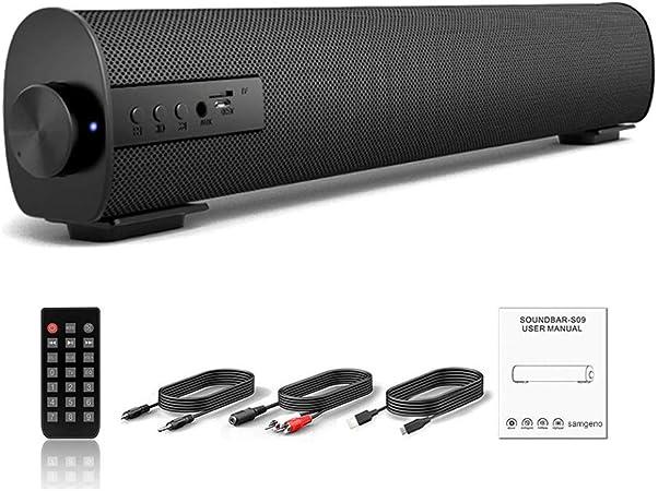 MAMU Barra De Sonido De 2.0 Canales Altavoz Bluetooth Portátil con Cable Y Audio Inalámbrico Barras De Sonido Estéreo para TV Tablet PC Móviles Interior Al Aire Libre: Amazon.es: Hogar