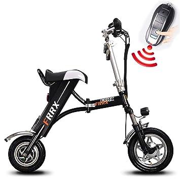 Bicicleta Plegable Eléctrica del Cuerpo 36V 250W Bicicleta Eléctrica del Motor Trasero,Black,36V8ah15to18miles