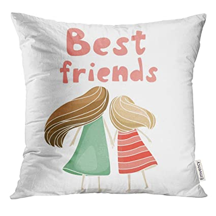 Amazon Com Upoos Throw Pillow Cover Hair Two Best Friends Girls