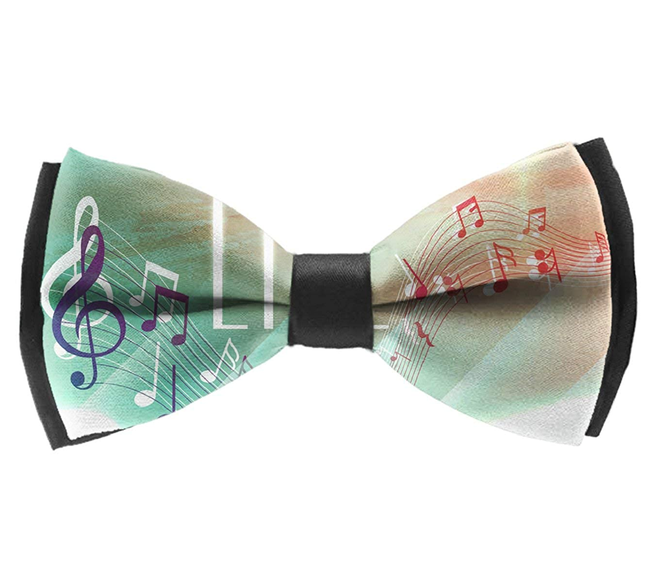Bow Tie Music Musical Notes Adjustable Bowtie for Wedding Party