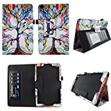Lovely Tree AT&T Trek 2 HD Case Model 6461A 2016 Premium PU Leather Stand Cover w Auto Wake / Sleep for AT&T Trek 2 HD 8? Android Tablet Compatible w ZTE Trek 2 HD K88 Stylus Holder ID Slots