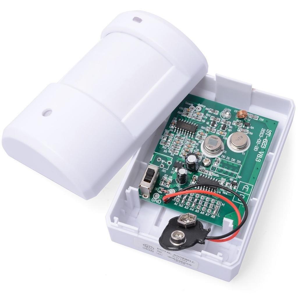 Mengshen Entry Door Bell Alarm Chime Doorbell Wireless IR Infrared Monitor Sensor Detector Split Alarm MS-YBQ03 by Mengshen (Image #4)