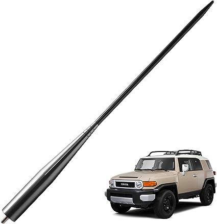 Ezzy Auto Antenna Ornament for 07-14 Toyota FJ Cruiser Replace 86392-35031 Manual Radio Mounted Base Bezel