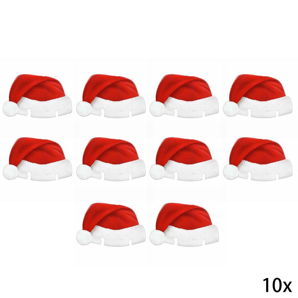 10pcs Décoration de Noël Verre à vin carte de Noël Verre à vin rouge Tasse carte zyurong