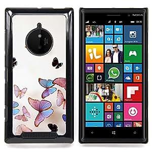 Eason Shop / Premium SLIM PC / Aliminium Casa Carcasa Funda Case Bandera Cover - Iridiscente Rosa Naturaleza - For Nokia Lumia 830