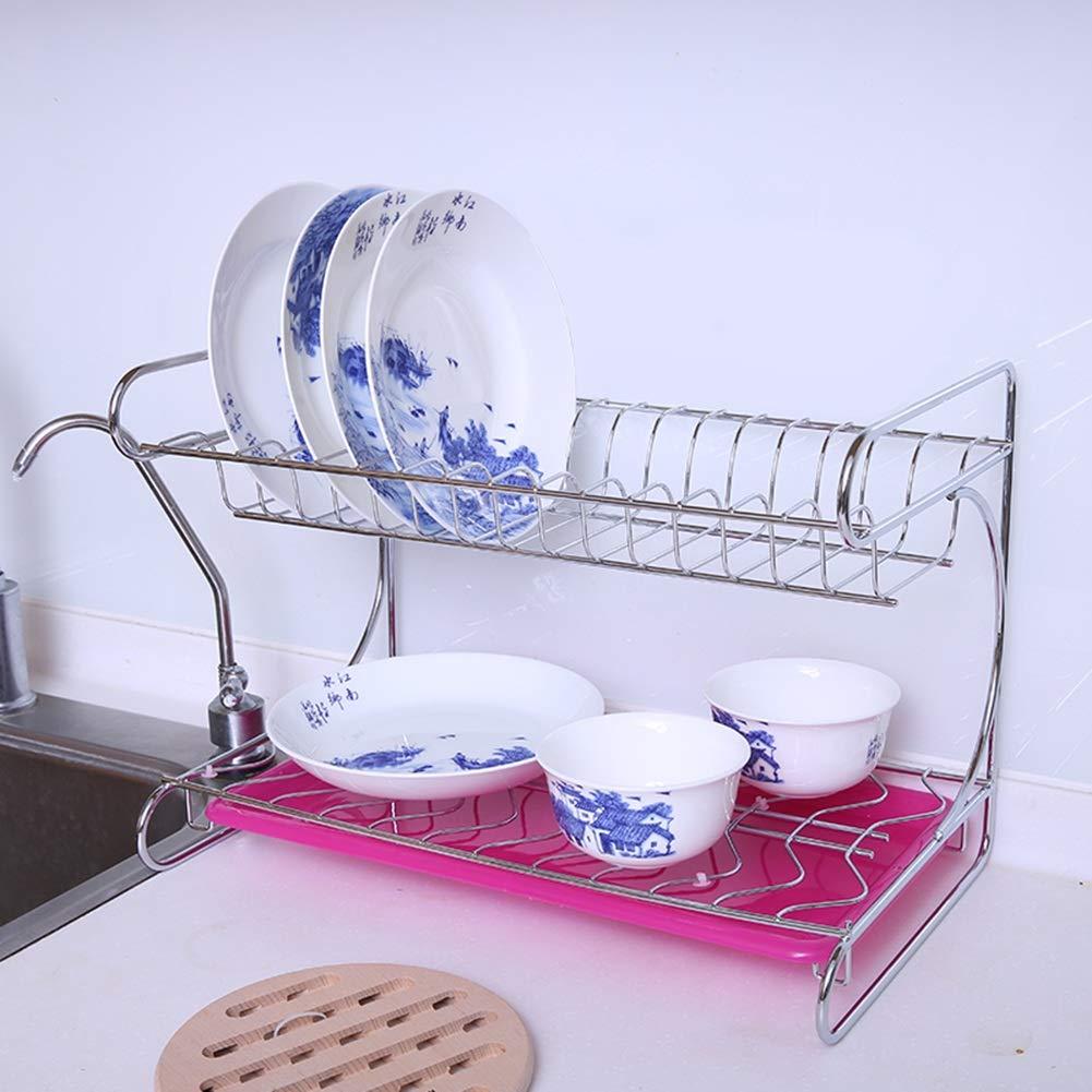 Shelf Storage Racks Pot Rack Storage Basket Shelf Baskets Cupboard Organizers Double Layer Dish Rack Kitchen Stainless Steel Storage Rack ZHAOYONGLI by ZHAOYONGLI-shounajia (Image #2)