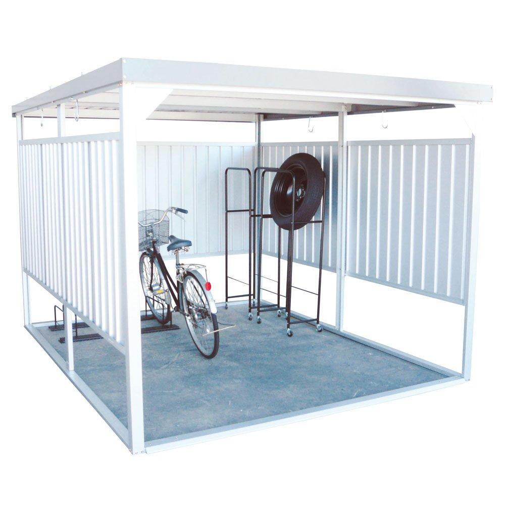 ダイマツ 多目的万能物置 サイクルハウス 物置 自転車 バイク 収納 屋外 シルバー DM-20 B0761N4854