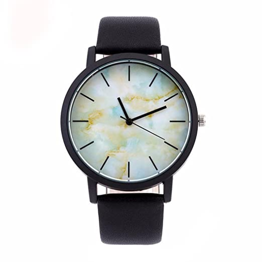 77d4cf26c Amazon.com: Becoler Military Sport Leather Band Round Dial Wrist Watch:  Watches