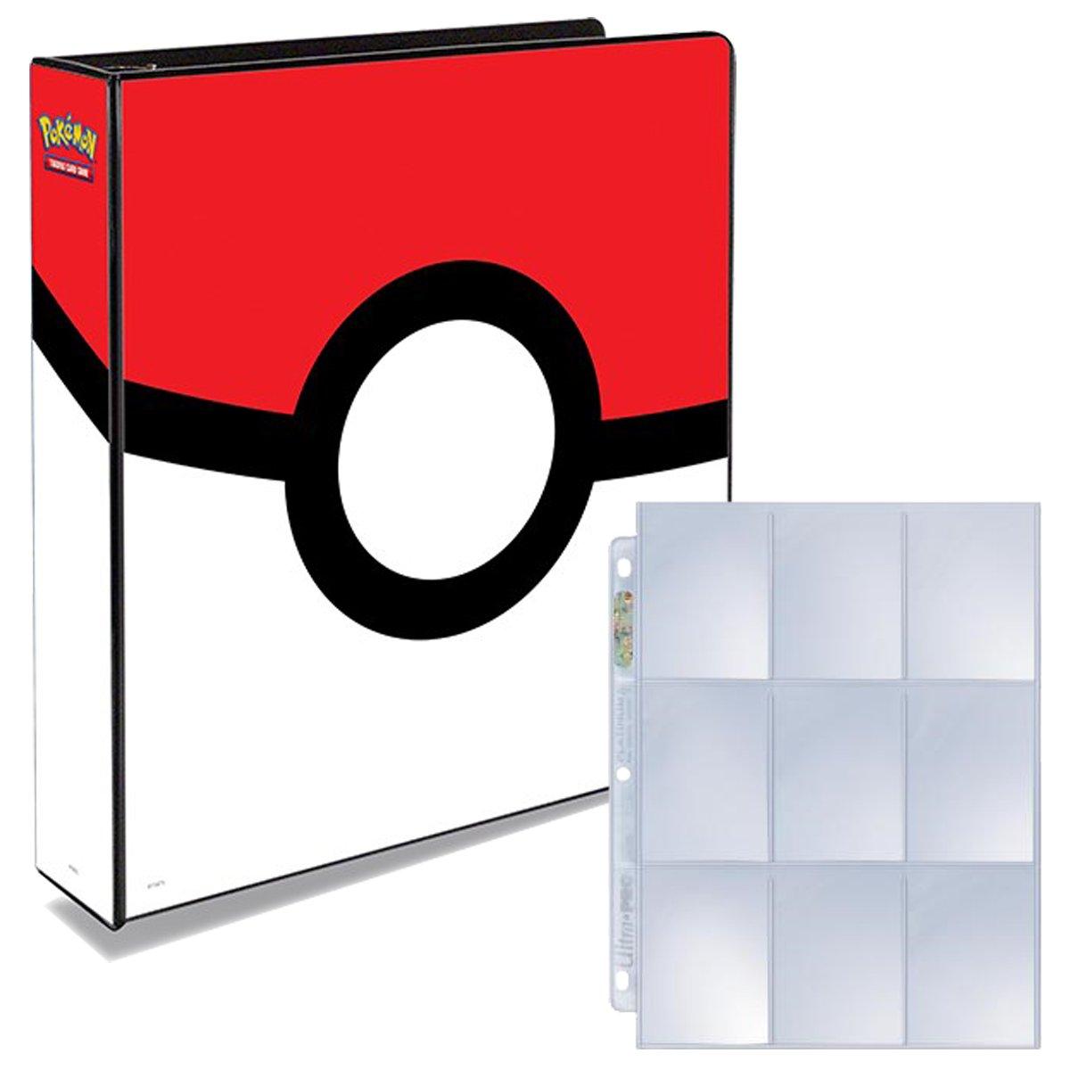 Pokemon Pokeball 3-Ring Binder with 25 Platinum Ultra-Pro 9-Pocket Pages