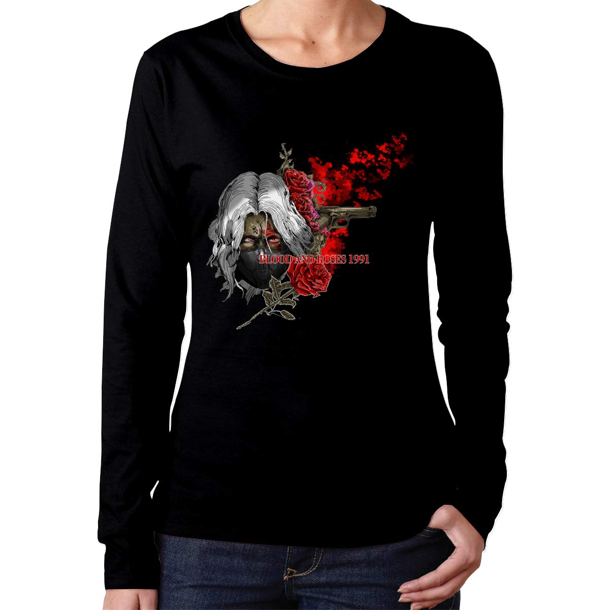 Amazon.com: T Shirts Womens White Blood Red Roses 1991 Real ...