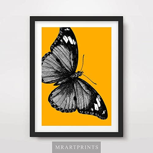 BUTTERFLY MODERN ART PRINT  PICTURE POSTER ART A4 WALL ART FOR THE HOME