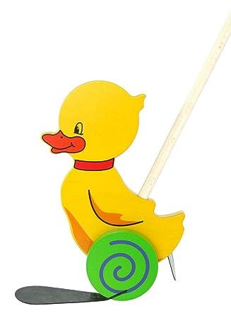 Holzspielzeug Kleinkind Holz Spielzeug Nachziehente Klein Baby 10 cm
