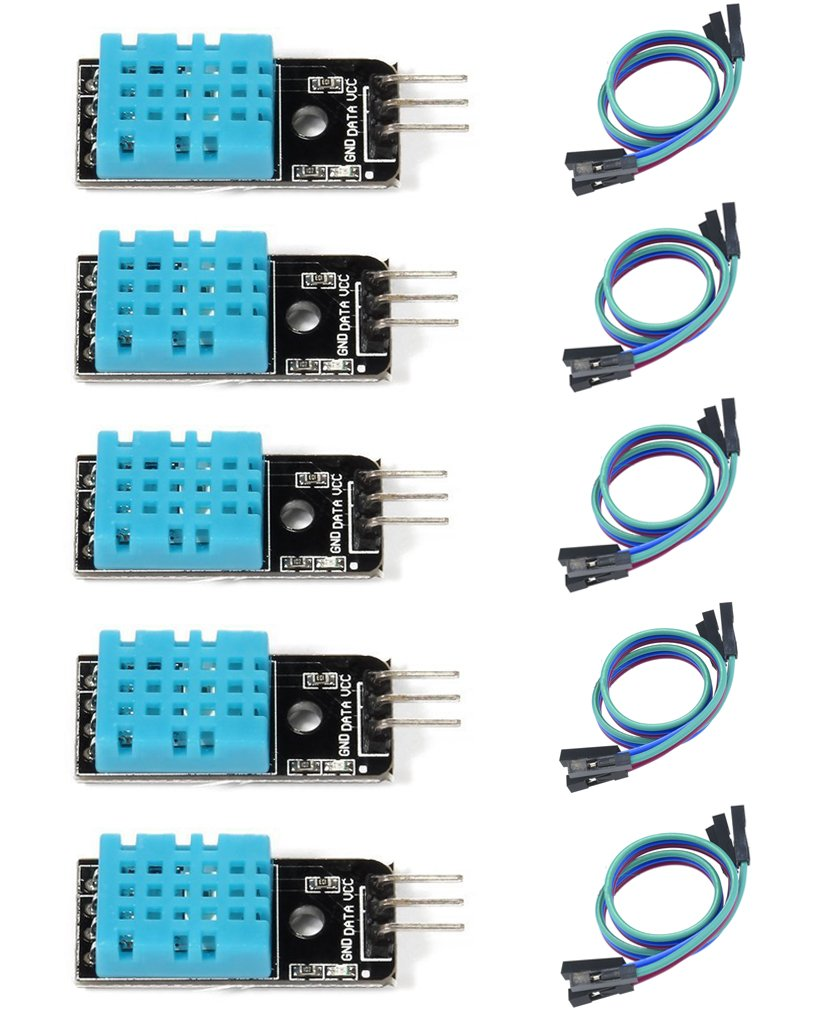 HiLetgo 5pcs DHT11 Temperature and Humidity Sensor Module for Arduino Raspberry Pi 2 3