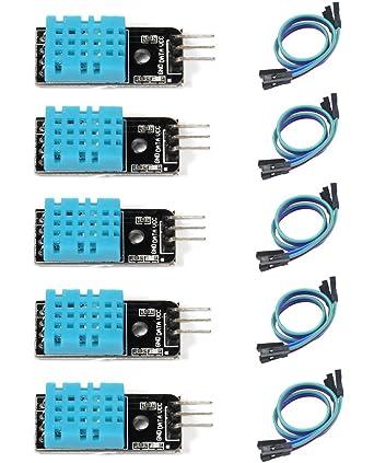 HiLetgo® 5pcs DHT11 sensor de temperatura y humedad módulo para Arduino Raspberry Piâ 2 3