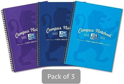 Oxford Campus, cuaderno A4, rayado, 140 páginas, varios colores ...