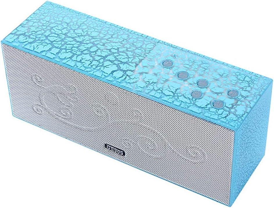 Luoshan Altavoz Bluetooth, Agrietado Colorido subwoofer Ligero, Apto for Sala de Estar/Dormitorio/reunión al Aire Libre (Color : Blue)