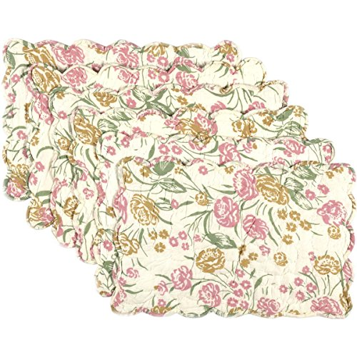 VHC Farmhouse Tabletop & Kitchen - Madeline Floral Floral Quilted Placemat Set of 6